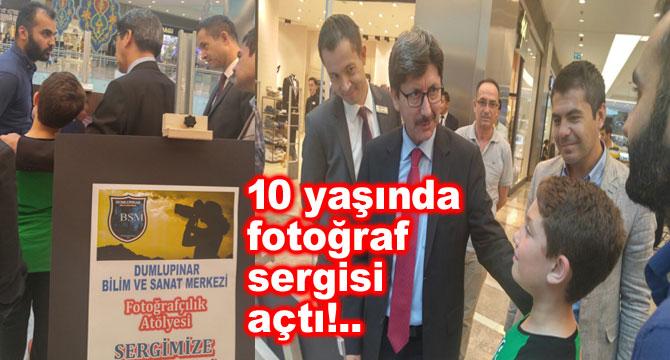 10 YAŞINDAKİ ÖĞRENCİ FOTOĞRAF SERGİSİ AÇTI!..