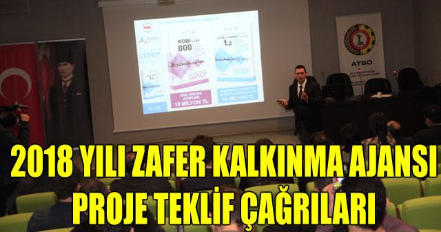 2018 YILI ZAFER KALKINMA AJANSI PROJE TEKLİF ÇAĞRILARI