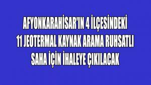 JEOTERMAL SAHA İHALESİ!..