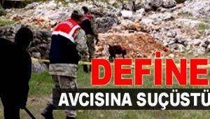 BOLVADİN'DE DEFİNE AVCILARINA SUÇÜSTÜ