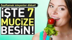 İŞTE ZAYIFLAMAYA YARDIMCI 7 BESİN