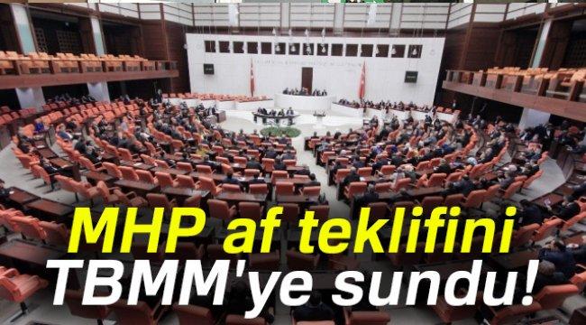 MHP, AF TEKLİFİNİ MECLİS'E SUNDU