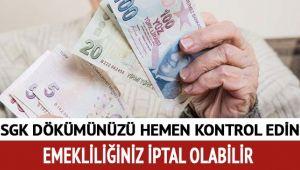 SGK DÖKÜMÜNÜZDE BU KOD VARSA DİKKAT!..