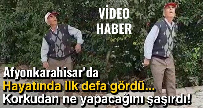 İLK DEFA DRONE GÖREN AMCANIN TEPKİSİ (VİDEO HABER)