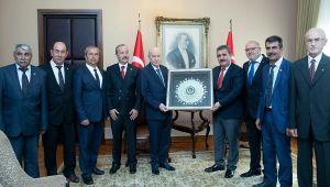 MHP'NİN İGM ÜYELERİ BAHÇELİ'Yİ ZİYARET ETTİ