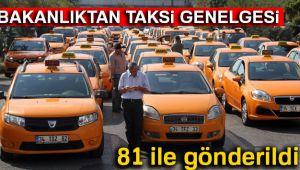 TAKSİCİLERE ÖZEL GENELGE!..
