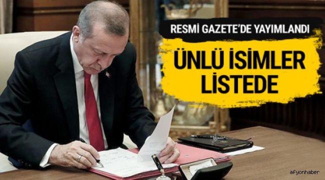 ÜNLÜ İSİMLER LİSTEDE!..