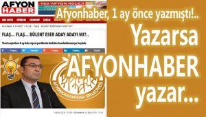 YAZARSA, AFYONHABER YAZAR!..
