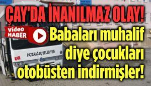 BELEDİYE BAŞKANI, MUHALİF VATANDAŞIN ÇOCUKLARINI BELEDİYE OTOBÜSÜNDEN İNDİRTMİŞ!..