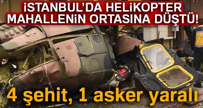 HELİKOPTER DÜŞTÜ, 4 ASKER ŞEHİT