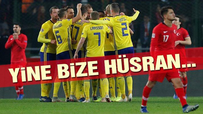 İSVEÇ'E 1-0 YENİLEN TÜRKİYE A MİLLİ FUTBOL TAKIMI, UEFA ULUSLAR LİGİNDE C LİGİNE DÜŞTÜ