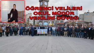 ÖĞRENCİ VELİLERİ OKUL MÜDÜRÜNÜ DARP ETTİ!..