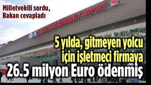 5 YILDA, GİTMEYEN YOLCU İÇİN 26.5 MİLYON EURO ÖDENMİŞ!..