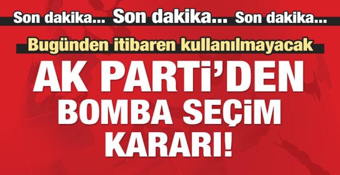 AK PARTİ'DEN BAYRAK VE AFİŞ KARARI!..