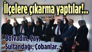 AK PARTİ İL TEŞKİLATI VE MİLLETVEKİLLERİ, İLÇELERE ÇIKARMA YAPTI!..