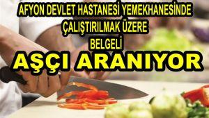 AŞÇI ARANIYOR