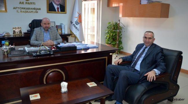 BEŞER'DEN AK PARTİ İL BAŞKANI SEZEN'E ZİYARET