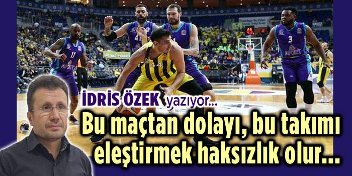 BU MAÇTAN DOLAYI, TAKIMIMIZI ELEŞTİRECEK DEĞİLİZ!..