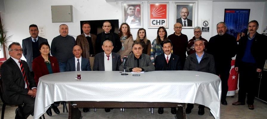 CHP AFYONKARAHİSAR İL ÖRGÜTÜ, ÖZGÜR ÖZEL'E SAHİP ÇIKTI