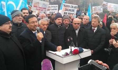 ÇİN'İN DOĞU TÜRKİSTAN ZULMÜ PROTESTO EDİLDİ