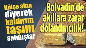 KALDIRIM TAŞINI BOYAYIP ALTIN KÜLÇE DİYE SATMIŞLAR!..