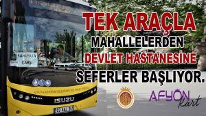 MAHALLELERDEN DEVLET HASTANESİNE SEFERLER BAŞLIYOR