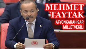 MEHMET TAYTAK, DOĞU TÜRKİSTAN KAHRAMANI ALPTEKİN'İ TBMM'DE ANDI