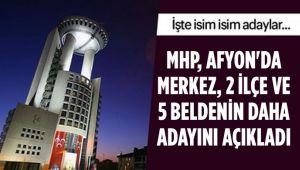 MHP, 2 İLÇE VE 5 BELDENİN DAHA ADAYINI AÇIKLADI