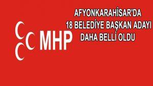 MHP'DE 18 BELEDİYE BAŞKAN ADAYI DAHA BELLİ OLDU