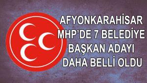 MHP'DE 7 BELEDİYE BAŞKAN ADAYI DAHA BELLİ OLDU