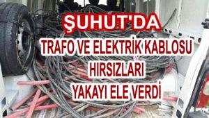 TRAFO VE ELEKTRİK KABLOSU HIRSIZLARI YAKAYI ELE VERDİ
