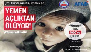 YEMEN'E YARDIM KAMPANYASI DEVAM EDİYOR