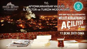 AFYON'A MİLLET KÜTÜPHANESİ AÇILIYOR