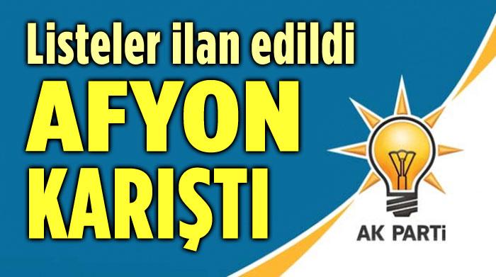 AK PARTİ AFYONKARAHİSAR'DA KARIŞTI