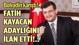 BAŞKAN FATİH KAYACAN ADAYLIĞINI İLAN ETTİ!..