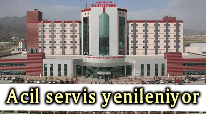 DEVLET HASTANESİ ACİL SERVİS YENİLENİYOR