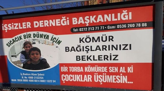 """İŞSİZLER DERNEĞİ'NİN """"KÖMÜR KAMPANYASI""""NA DESTEK"""