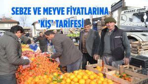 SEBZE VE MEYVE FİYATLARINA 'KIŞ' TARİFESİ