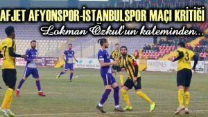 TEK KALE OYNADIK, İSTANBULSPOR'U YENEMEDİK...