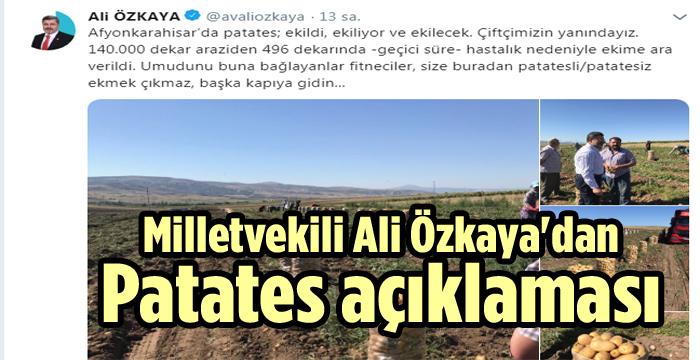 ALİ ÖZKAYA'DAN PATATES AÇIKLAMASI