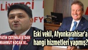 ESKİ VEKİL AFYON'A HANGİ HİZMETLERİ YAPMIŞ?!