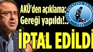 REKTÖRLÜK GEREĞİNİ YAPTI, PROGRAMI İPTAL ETTİ!..