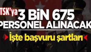 TSK'YA 3675 ASTSUBAY ALINACAK, İŞTE ŞARTLARI