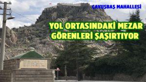 YOL ORTASINDAKİ MEZAR GÖRENLERİ ŞAŞIRTIYOR