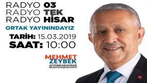 MEHMET ZEYBEK, YARIN 10:00'DA CANLI YAYINDA