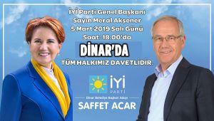 MERAL AKŞENER DİNAR'A GELİYOR
