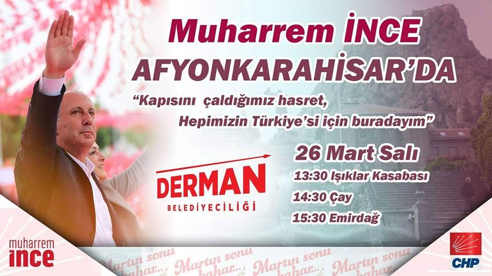 MUHARREM İNCE AFYONKARAHİSAR'A GELİYOR