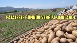 PATATESTE GÜMRÜK VERGİSİ SIFIRLANDI
