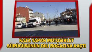 ŞUHUT'TA MOTOSİKLET KAZASI