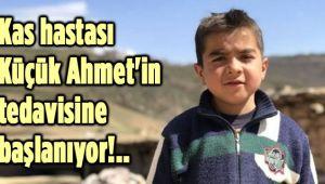 KAS HASTASI KÜÇÜK AHMET'İN TEDAVİSİNE BAŞLANIYOR